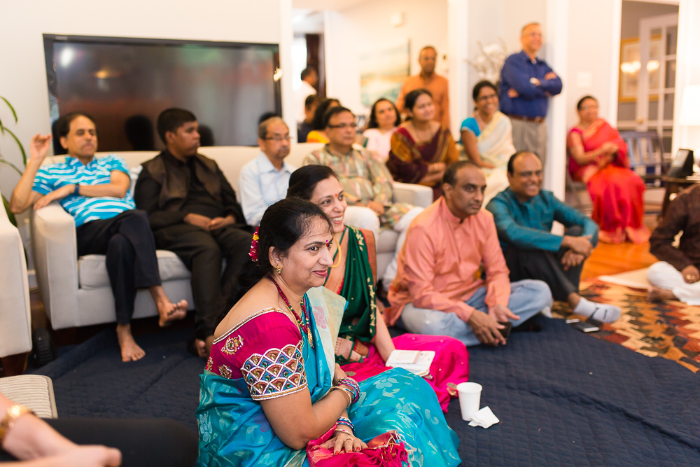 Wedding guests during Herndon, Virginia marriage ceremony | Candid Indian Wedding Photography