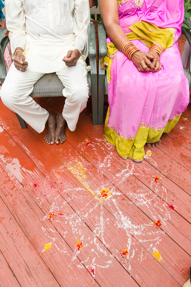Married couple during their Hindu vow renewal in Herndon