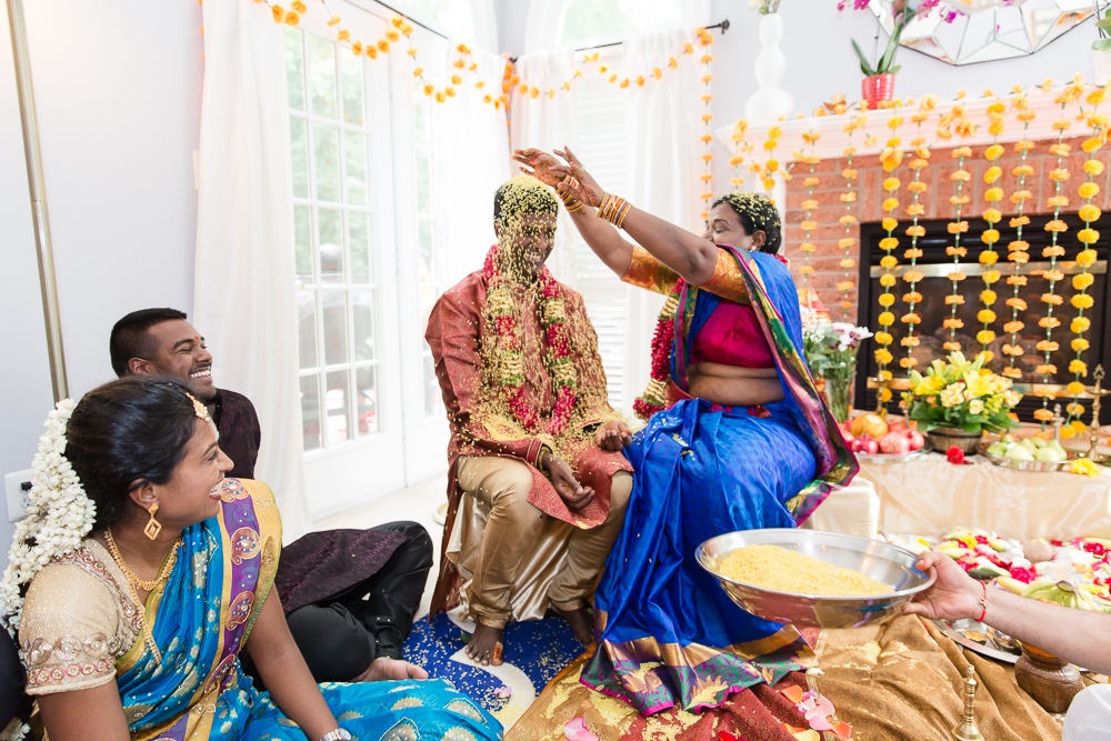 Candid photo during Indian marriage ceremony in Northern Virginia