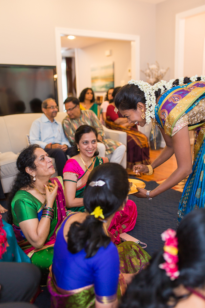 Candid photo of guests during Hindu marriage ceremony | Candid Indian Wedding Photography in DC | Megan Rei Photography