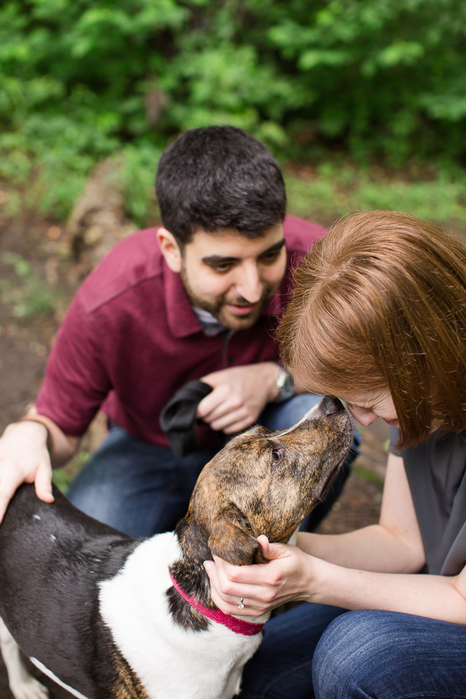 Dog kisses on the trail at Scott's Run Nature Preserve