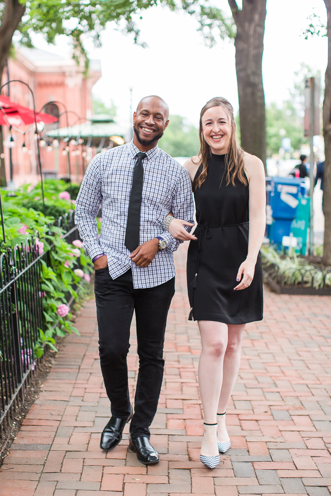 Candid engagement session, walking through Capitol Hill neighborhood
