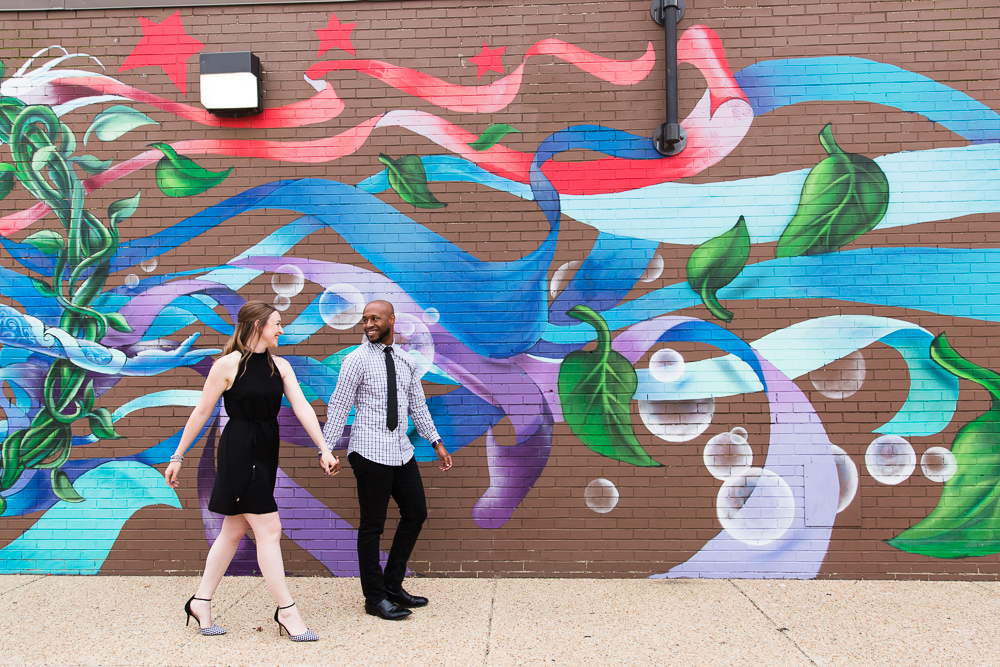 Best DC mural engagement photo locations | Eastern Market engagement pictures