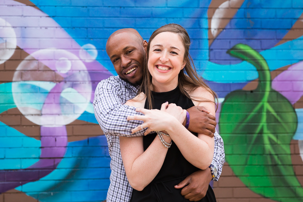 Colorful mural in Washington DC | DC mural engagement pictures