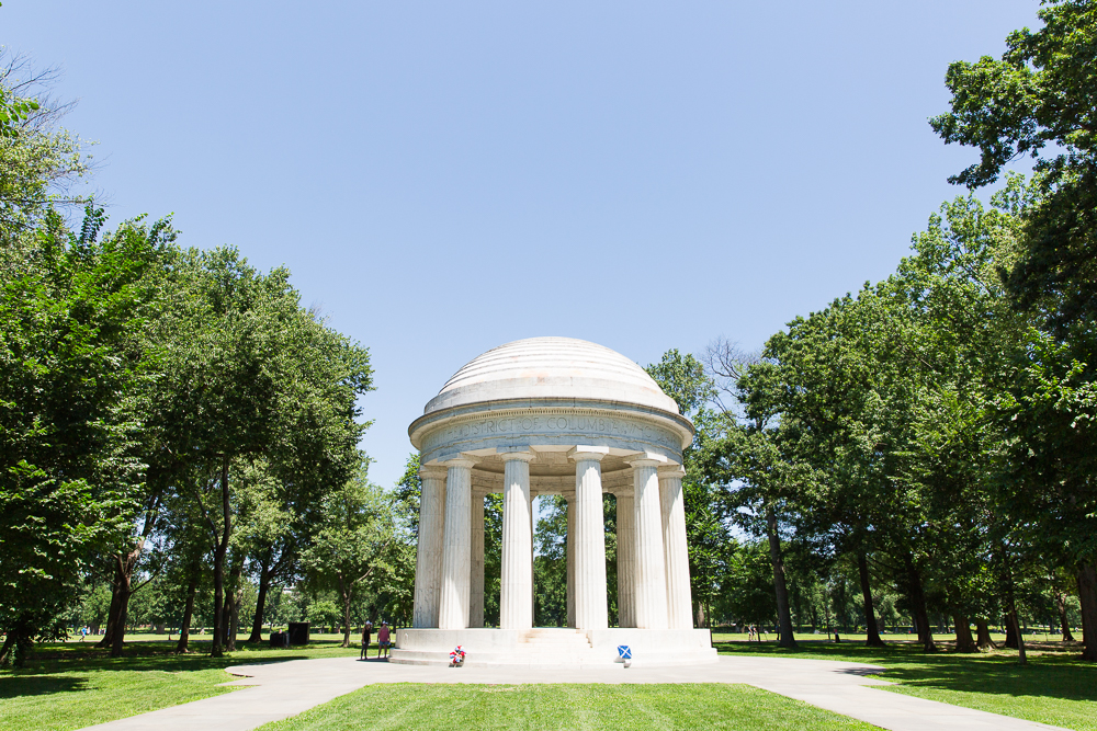 DC War Memorial wedding venue on the National Mall