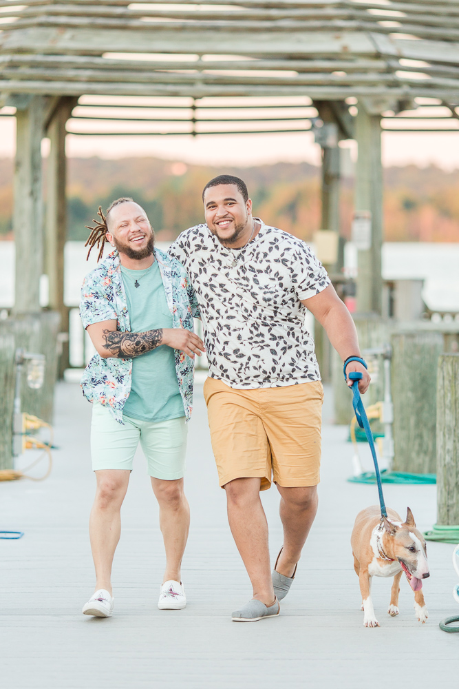 Same-sex engagement photography in Northern Virginia