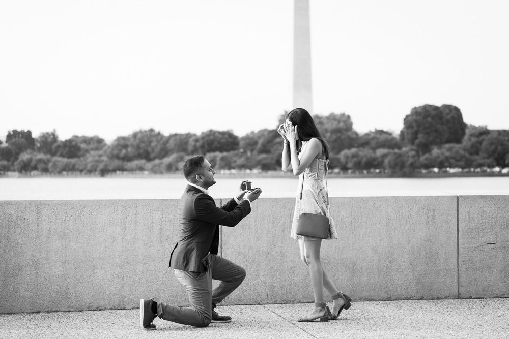 Wedding proposal photography in Washington, DC