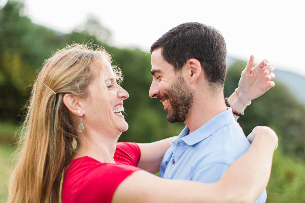 Candid engagement photography in Shenandoah National Park