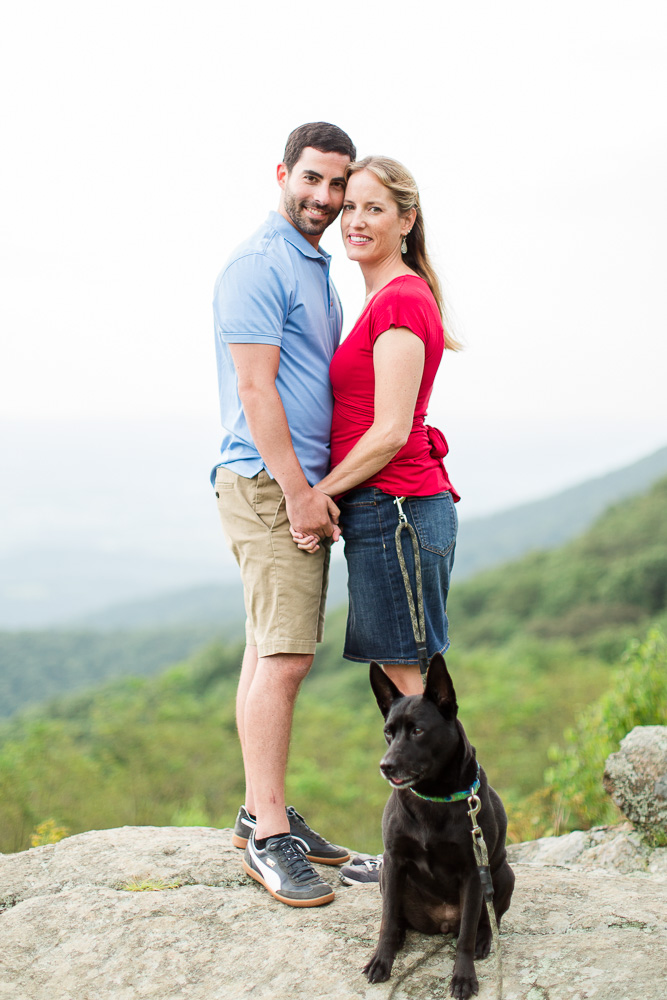Dog friendly hike and engagement photo shoot in Shenandoah National Park