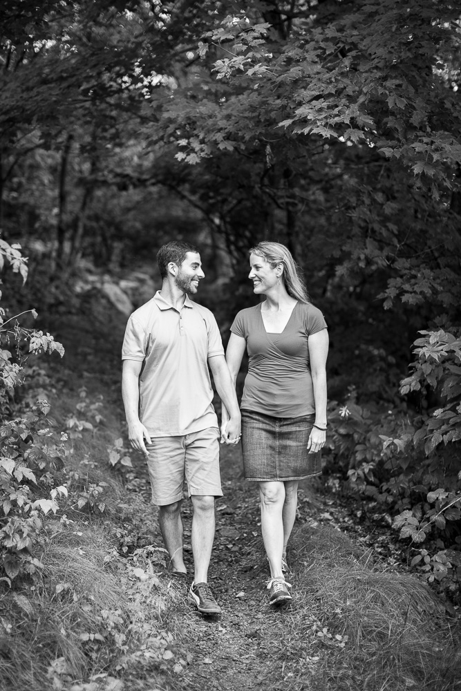 Engagement pictures in the forest