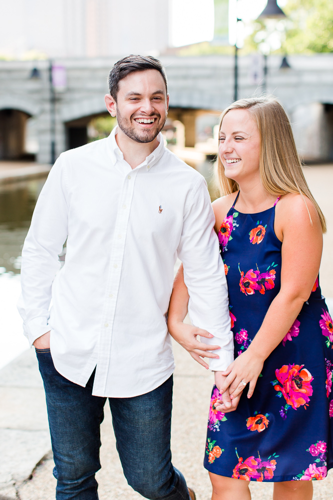 Fun engagement photos in Richmond, Virginia