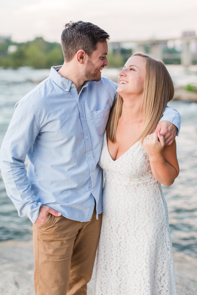 Fun Belle Isle engagement shoot | Best Richmond Virginia engagement photo places