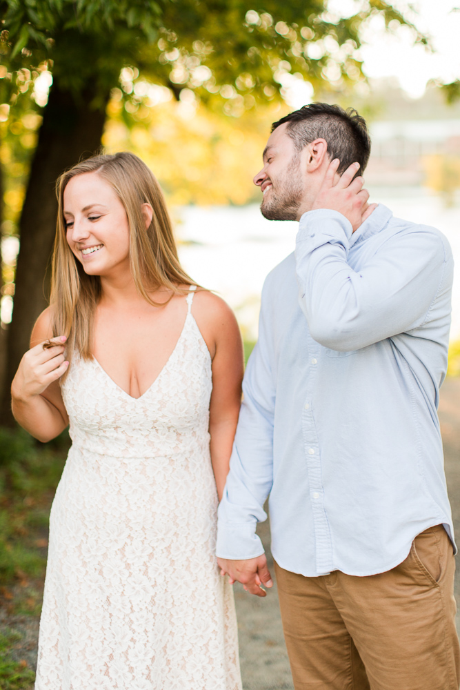 Funny engagement pictures in Richmond, VA