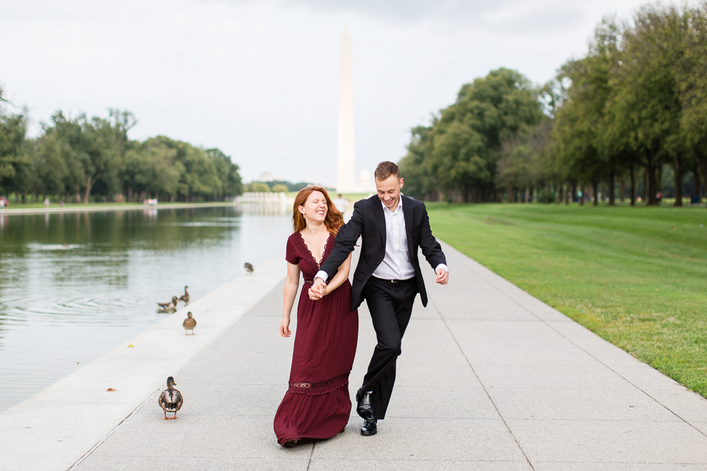 Fun engagement pictures in Washington, DC | Candid Washington DC photographer | Megan Rei Photography
