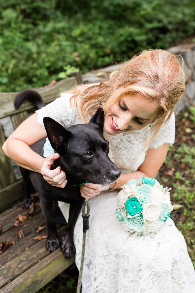 Dog of Honor on the wedding day