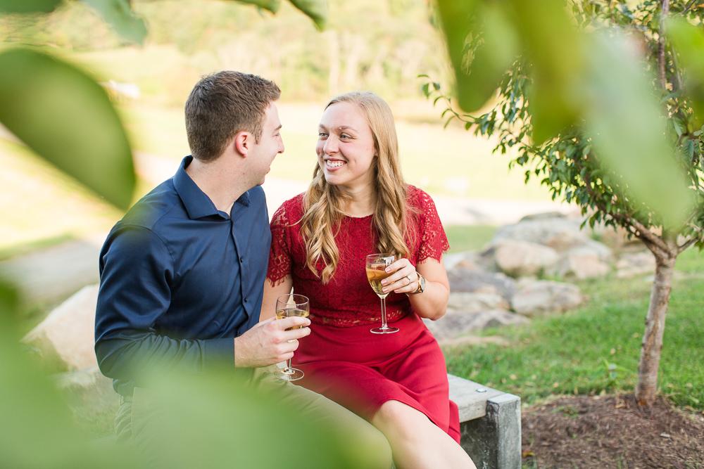 Enjoying a glass of wine in Delaplane, Virginia