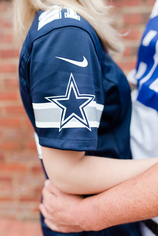 Dallas Cowboys jersey worn during a football fans engagement session