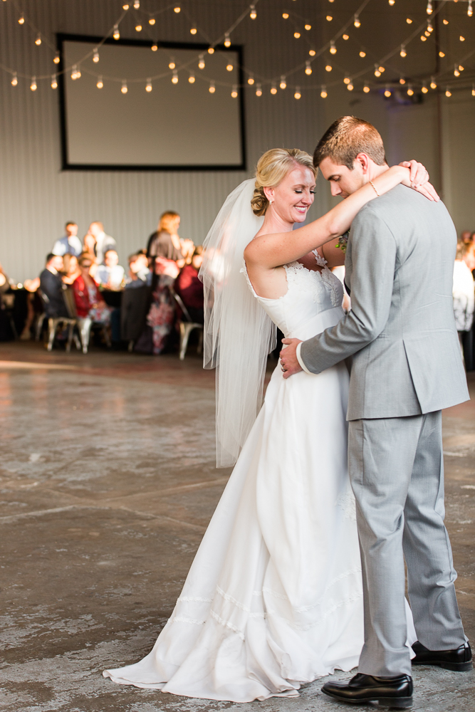 Having their first dance as husband and wife | Aurora, Colorado wedding venue