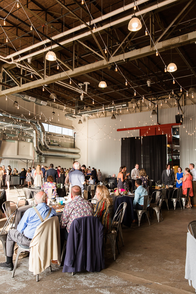 Wedding reception at The Hangar at Stanley Marketplace, Aurora | Best wedding venues near Denver, CO