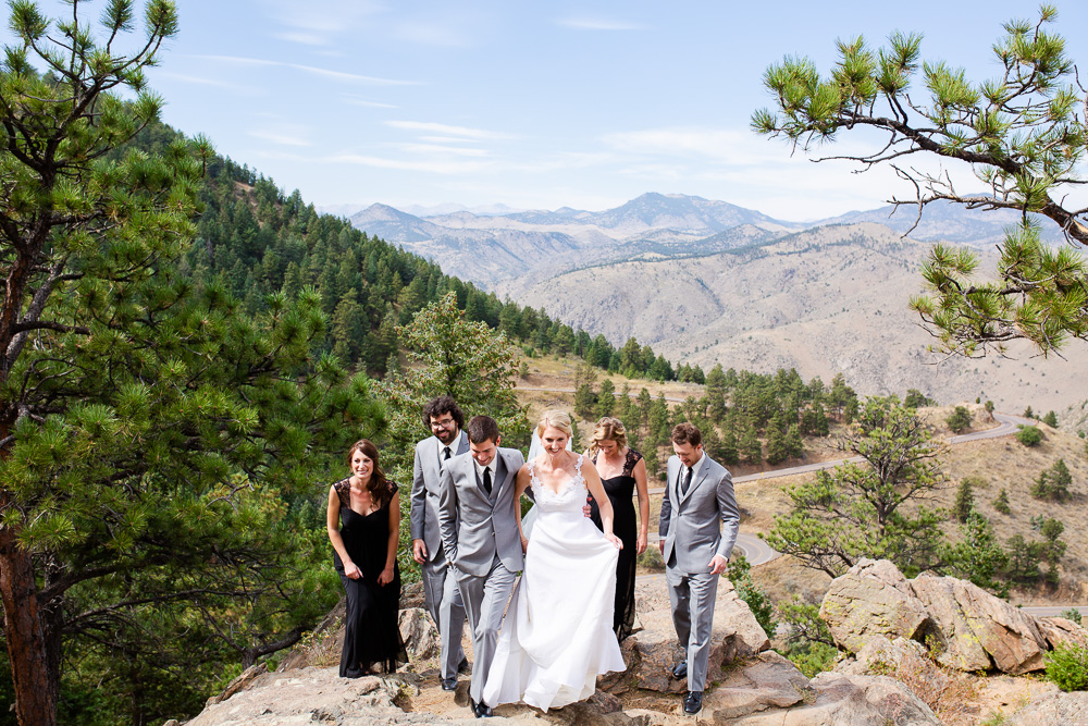 Wedding pictures at the top of Lookout Mountain, Golden, Colorado | Best wedding photography in Denver, CO