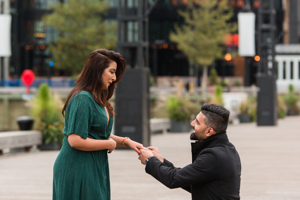 Down on one knee for a wedding proposal at The Wharf | Proposal Photographer in Washington, DC