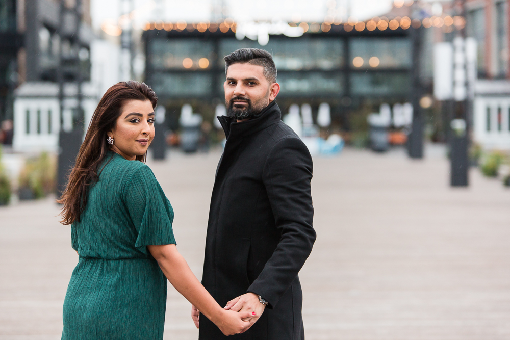 Newly engaged couple just after their proposal in Washington DC | Pakistani engagement photographer DC