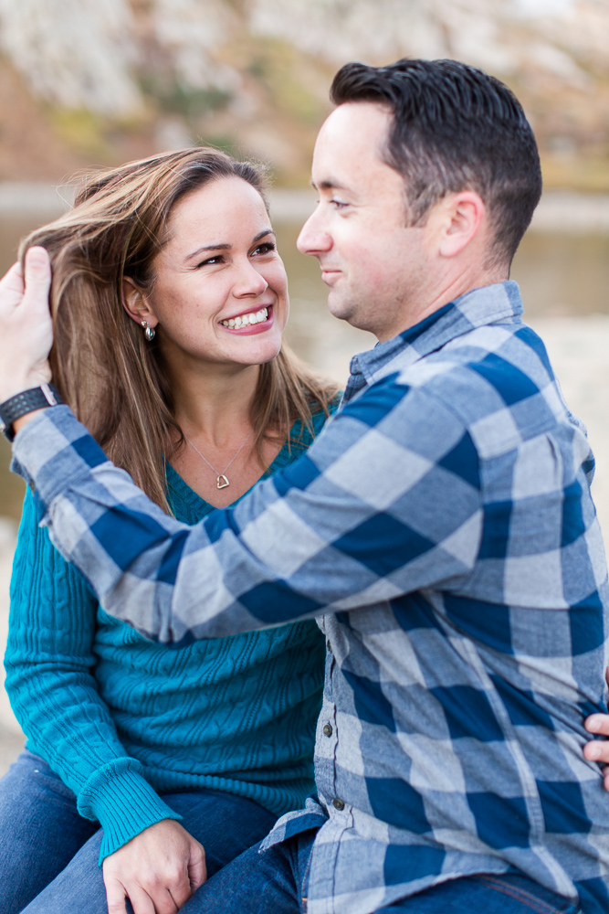 Laughing while goofing around together | Fun Colorado Photographer