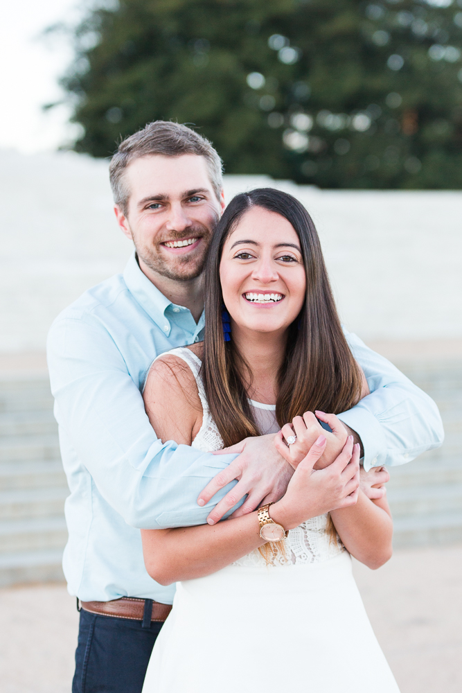 Candid engagement photography in Washington, DC