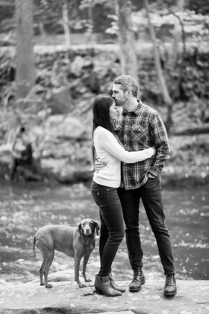 A kiss on the forehead at Rock Creek Park