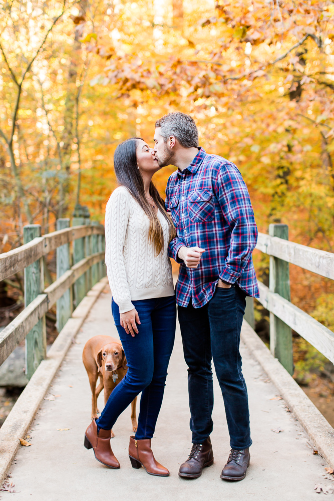 Best place for fall engagement pictures in Washington DC | Rock Creek Park