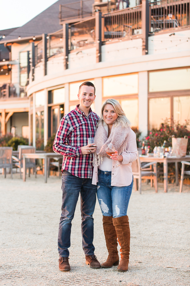 Engagement pictures at Stone Tower Winery | Leesburg Wedding and Engagement Photographer