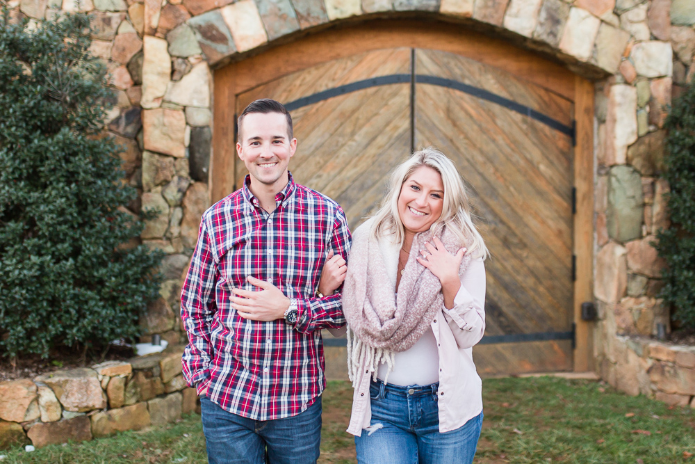 Photo session after their surprise proposal at Stone Tower Winery