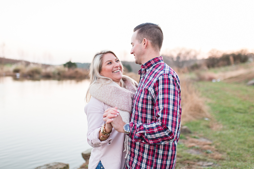 Dancing by the lake at Stone Tower Winery | Leesburg Virginia Wedding Photographer