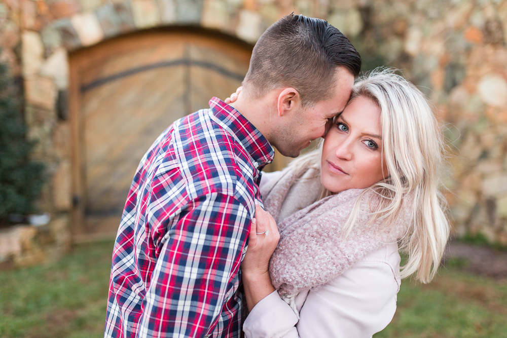 Stone Tower Winery wedding venue in Leesburg, Virginia | Engagement pictures at Stone Tower Winery