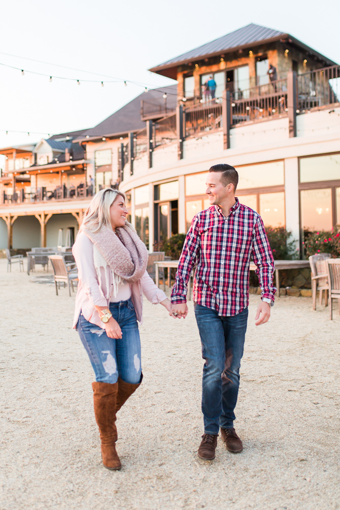 Candid engagement pictures at winery in Northern Virginia | Leesburg engagement locations