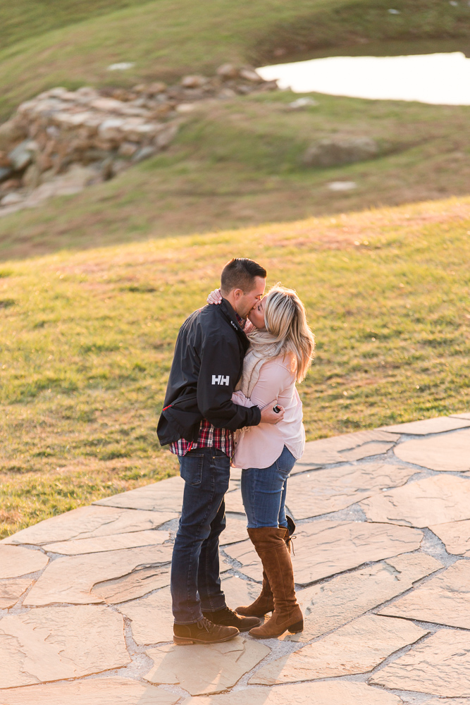 A kiss after she said yes to the proposal | Engagement at Stone Tower
