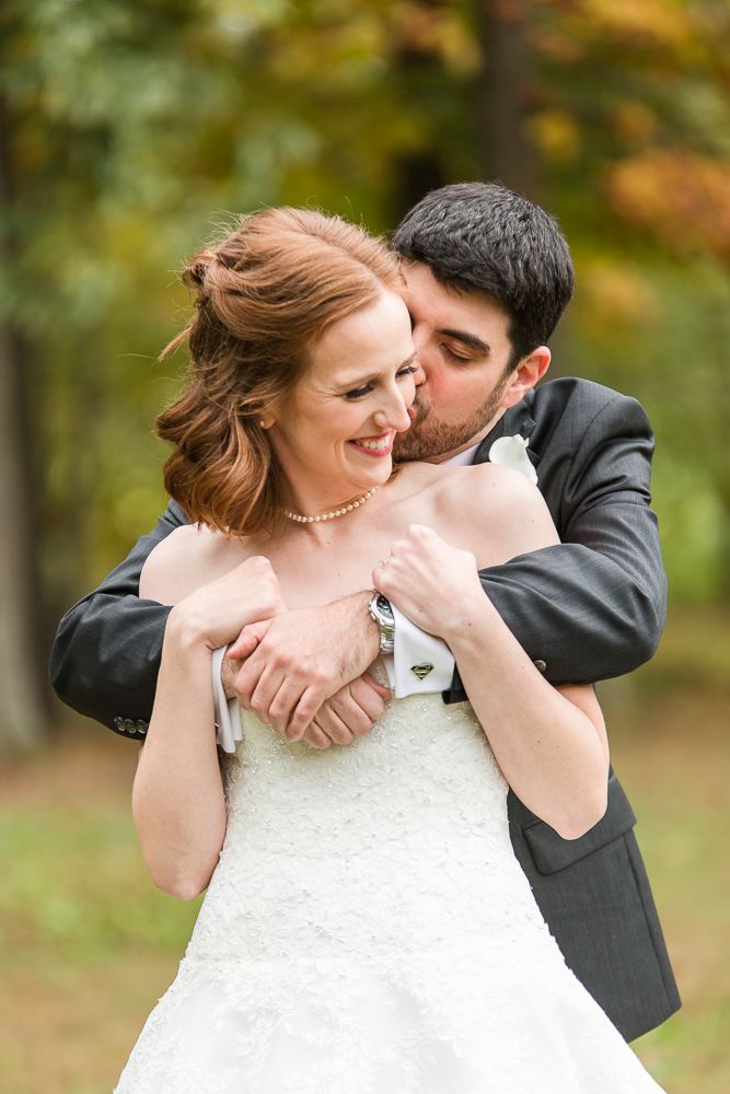 Bride and groom on their wedding day in Leesburg, Virginia | Northern Virginia Wedding Photographer