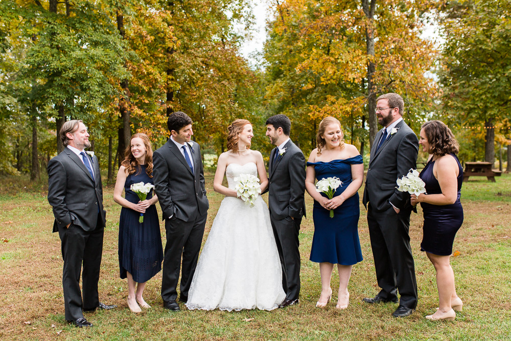 Wedding party at Harvest House at Lost Creek Winery in Loudoun County, Virginia | Best Loudoun Wedding Venues