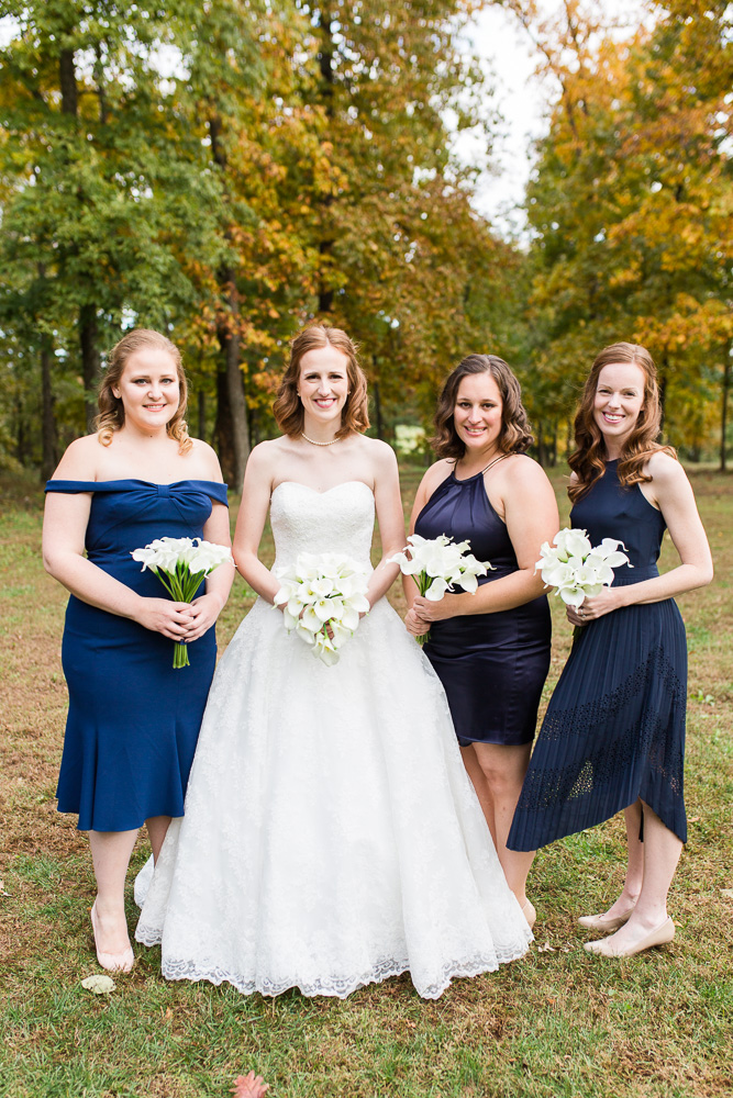 Bridal party photo at Harvest House at Lost Creek Winery wedding