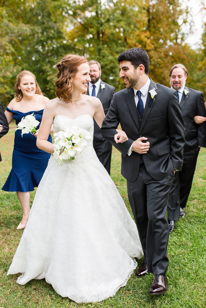 Fun wedding pictures at the Harvest House at Lost Creek Winery in Leesburg, Virginia