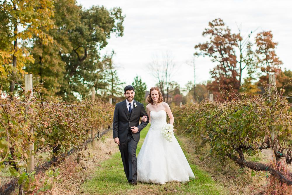 Vineyard wedding photos at Harvest House at Lost Creek Winery | Best Vineyard Wedding Venues in Leesburg, Virginia