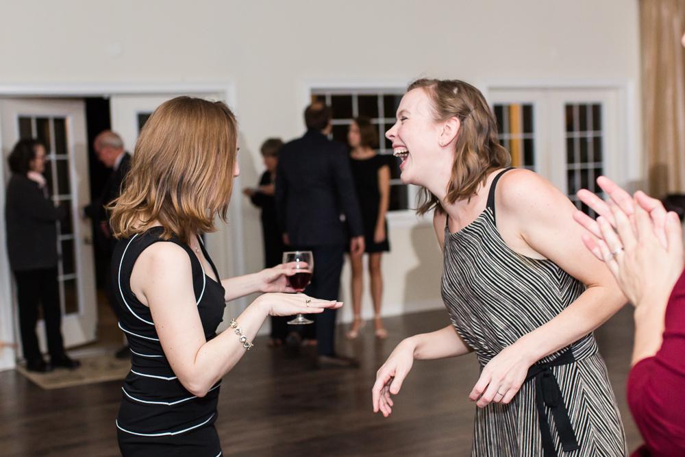 Dancing during the wedding reception in Leesburg, Virginia