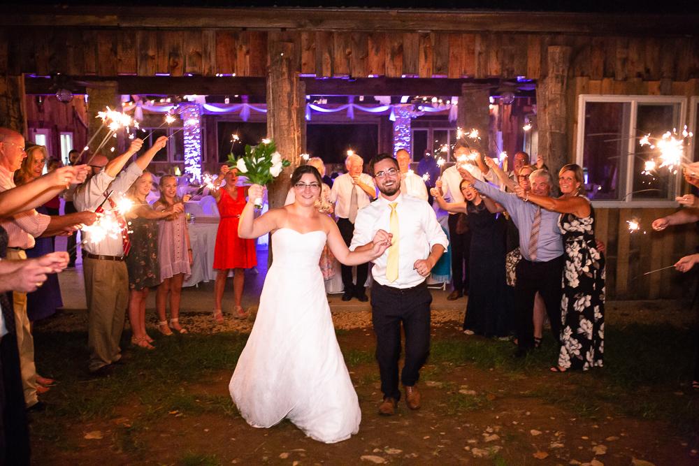 Wedding sparkler send-off in Northern Virginia | Virginia Wedding Photography