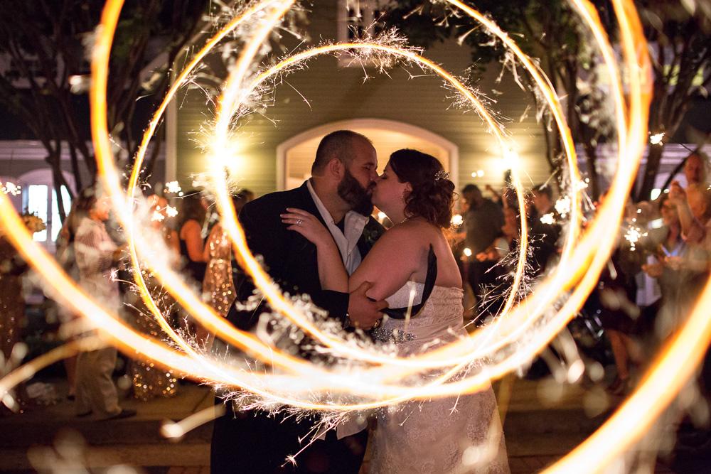Creative sparkler wedding pictures | Northern Virginia Wedding Photographer | Megan Rei Photograph