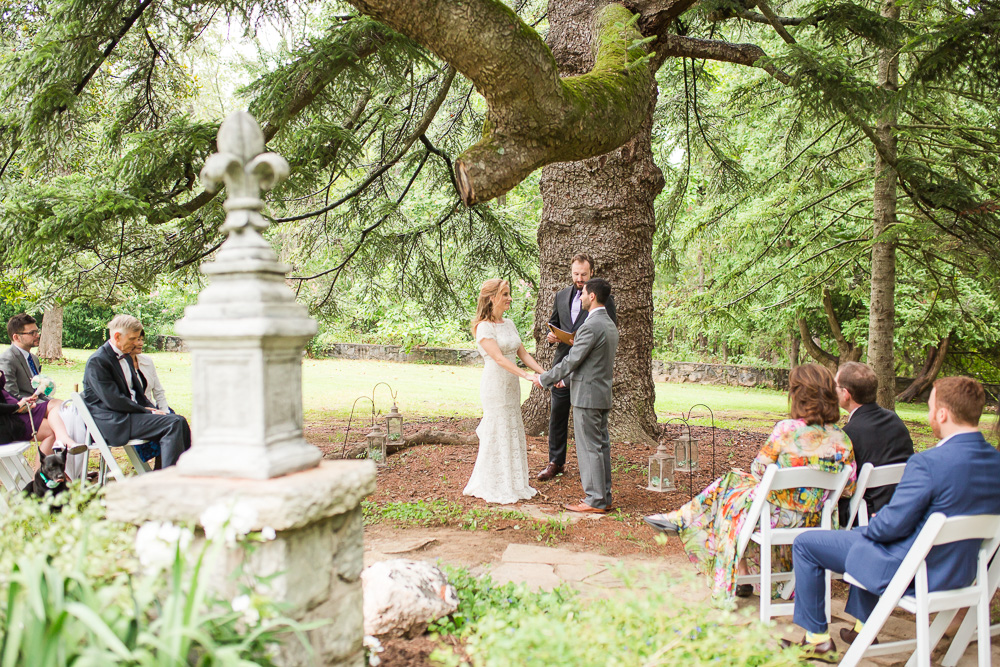Outdoor wedding ceremony at Rust Manor House in Leesburg, Virginia   Best outdoor wedding photography in Northern Virginia