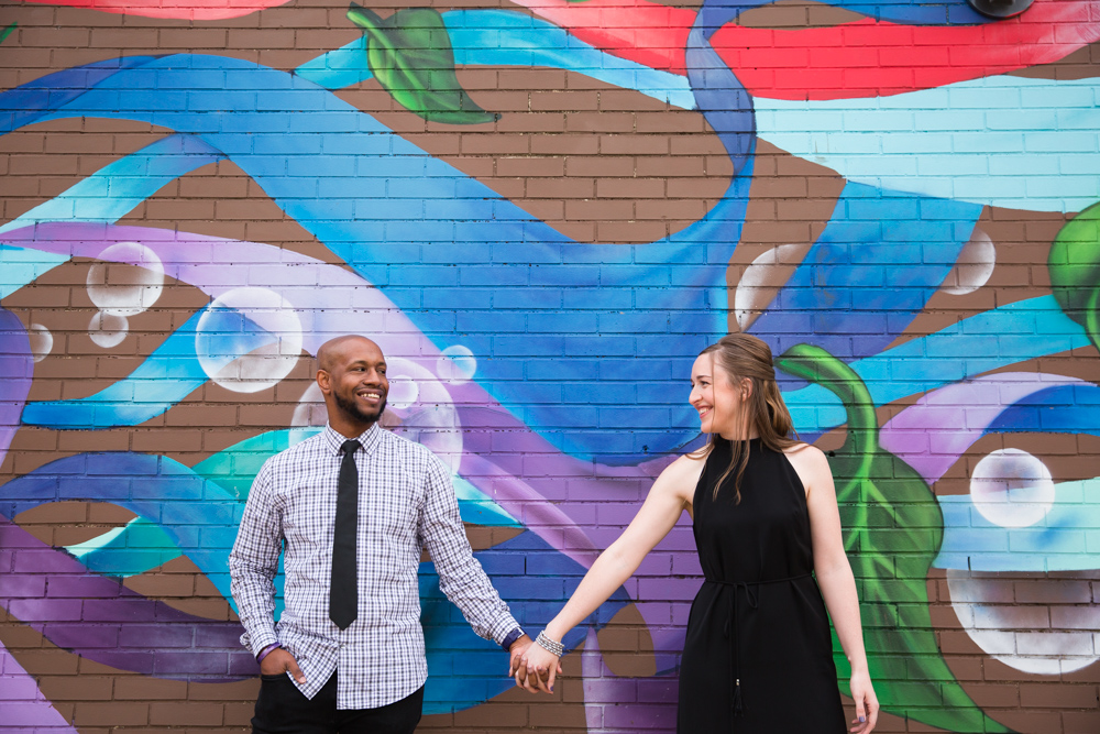 Eastern Market mural engagement pictures in Washington, DC
