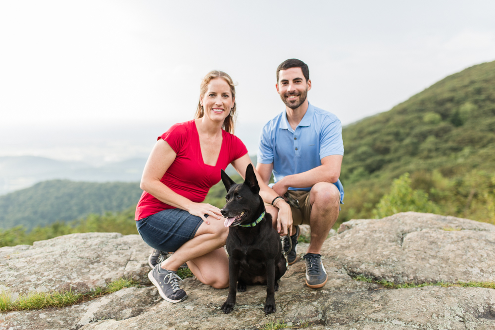 Shenandoah National Park hiking engagement session with dog | Shenandoah engagement photographer