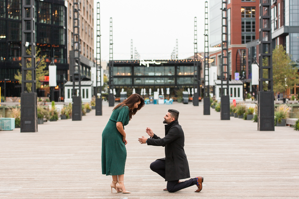 Surprise engagement on the pier at the DC Wharf | Washington, DC engagement photographer