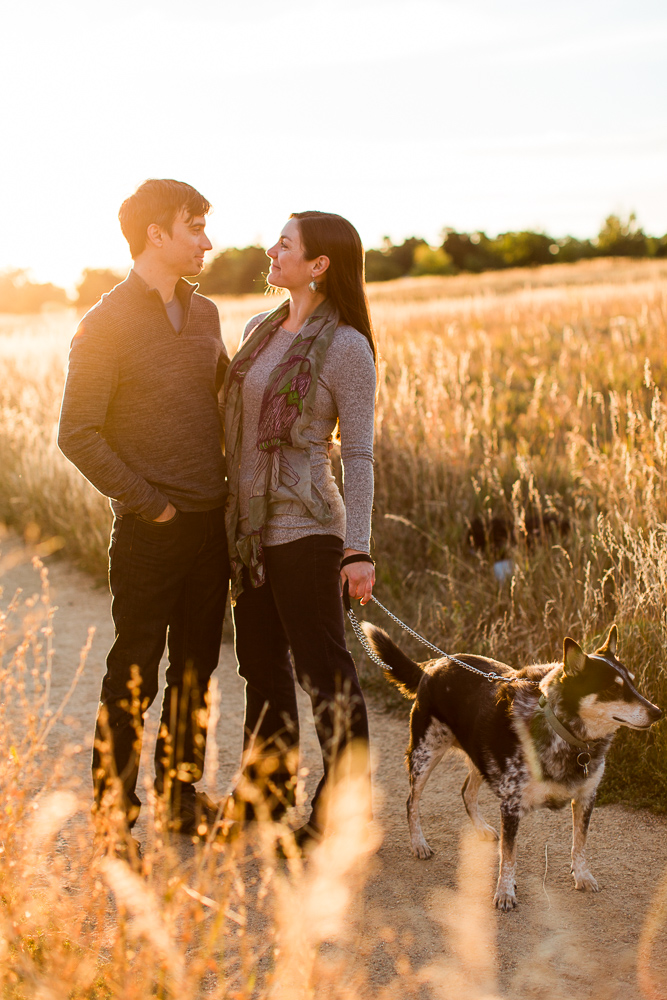 Golden hour engagement photos | Best Northern Virginia engagement photographer