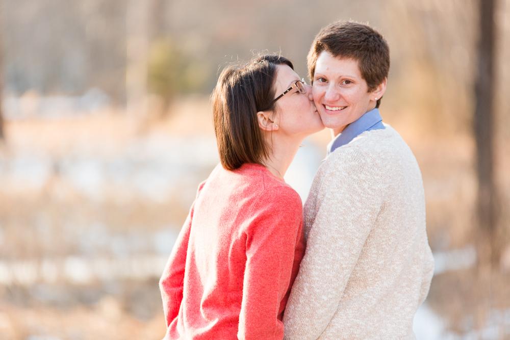 Lesbian couple engagement pictures at Manassas National Battlefield Park | Northern Virginia same-sex engagement photographer